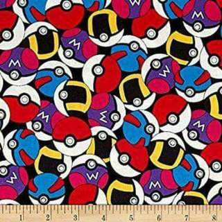Pokeball Fabric Cotton Woven By Spring Creative