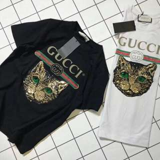 Gucci cat pattern tee