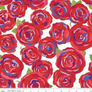 Riley Blake Red Roses Cotton Woven Fabric