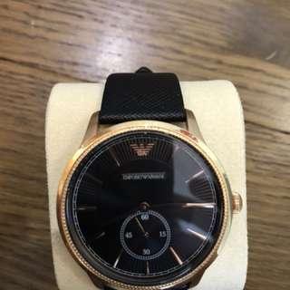 Armani 玫瑰金30mm女裝手錶手錶