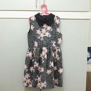 Flower Embroidery Dress