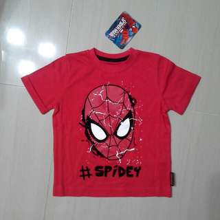 Brand NEW Boys Disney Spiderman Tee