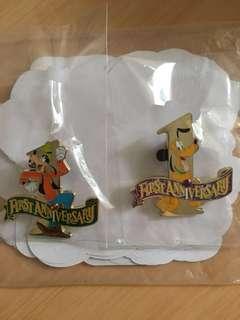 上海迪士尼1周年徽章 Disney Pin