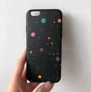 黑色星球宇宙電話殻 iphone case