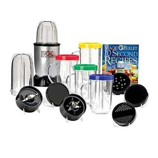 Magic Bullet Hi-Speed Blender/Mixer System 21 Pcs Set – Black and Silver