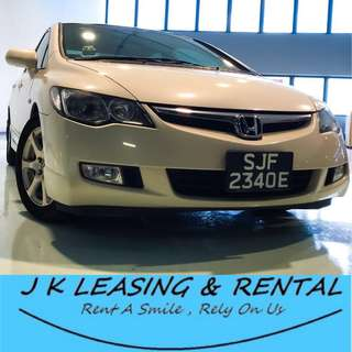 *HOT ITEM RENTAL* HONDA CIVIC 1.6A UBER GRAB CHEAP CHEAPEST PROMO SEDAN SALOON