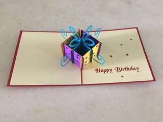 Pop up 3D birthday card (12x12cm)