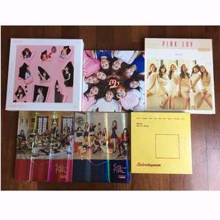 [Sale] Twice and Apink Albums