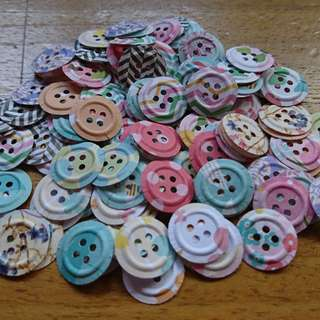 Paper Buttons 50pcs