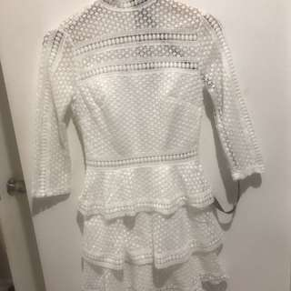 Pretty Little Thing white lace dress- never worn, tags still attached