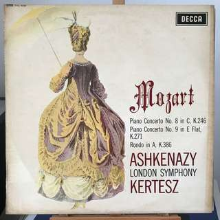 Mozart Piano Concertos 8 & 9, Rondo, Ashkenazy & Kertesz DECCA SXL 6259