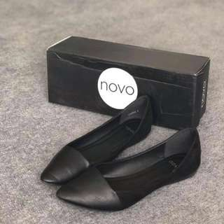 Novo Black Pointed Flats
