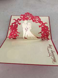 Pop up 3D wedding card (14.5x10cm)