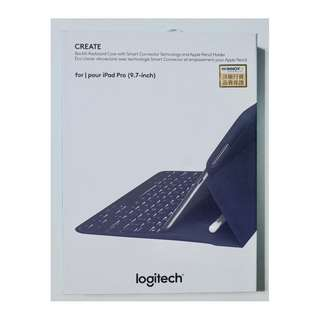 Logitech create keyboard case iPad pro 9.7 藍色鍵盤保護殻