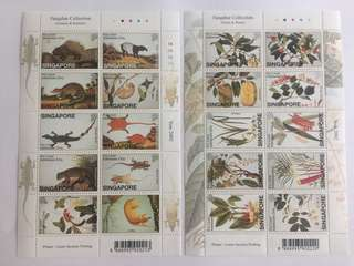 Singapore 2002 William Farquhar collection Animals and reptiles mnh