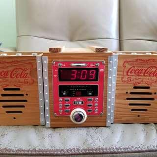 懷舊可口可樂CD收音機