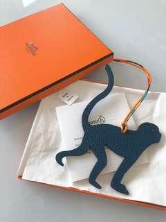 全新愛馬仕Hermes Petit H Monkey Charm (two-tone)