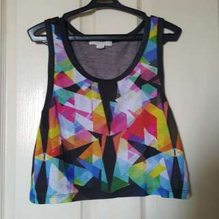 Forever 21 Geometric Pattern Crop Top