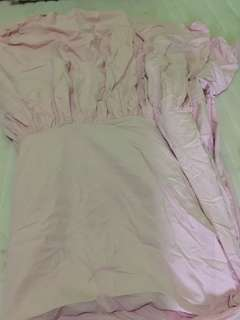 Sprei pink polos preloved 120x200