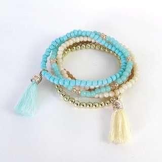 Bracelet blue ethnic