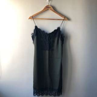 Zara Lace Dress — Green