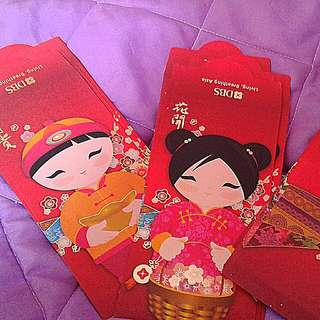 Ocbc bank  Chinaboy chinagirl  angpows    Sealed pack of 10 Each pack at $5  Add postage $1