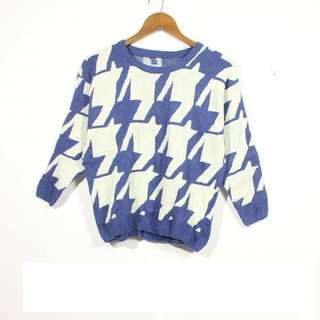 Houndstooth Oversize Sweater