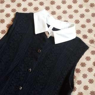 Lace Button-Down Blouse