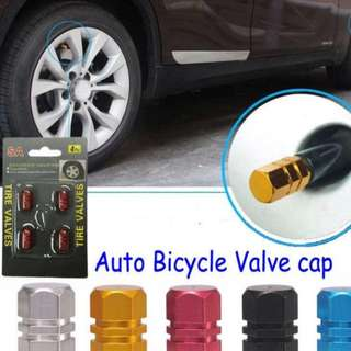 Aluminum Car Wheel Tires Valves Tyre Stem Air Caps