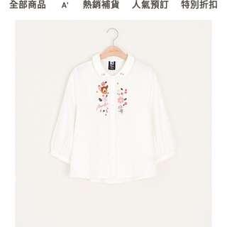 Pazzo小鹿斑比系列花園刺繡襯衫