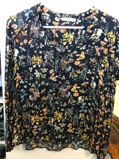 Mango Floral Blouse - Preloved, Excellent Condition