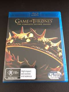 Game of Thrones Season 2 Blu-ray (5 Disc Set)