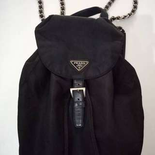 Prada chain backpack ori