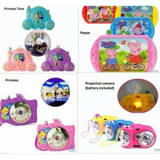 *FREE DELIVERY to WM only / Ready stock, offer 2sets RM25* Kids camera toy each as shown design except peppa pig/color. Free delivery is applied for this item.