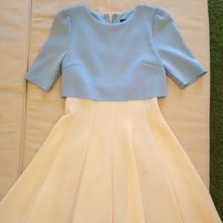 [PL] Baby Blue and White Dress