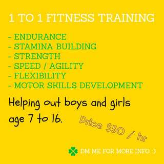 🏐 1 to 1 Fitness Training For Your Child 🎾