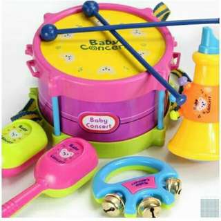 *FREE DELIVERY to WM only / Ready stock* Kids toy musical instruments set of 5pcs as shown design/color. Free delivery is applied for this item.
