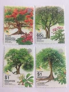Singapore 2002 Trees mnh