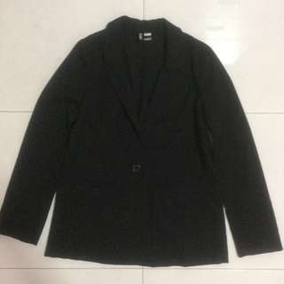 H&M Black Blazer With Front Pockets