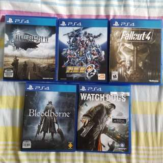 PS4 Games (all for $100)