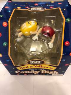 M&M's red & yellow's collectible candy dish