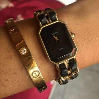 Chanel Super Vintage Wristwatch SMALL ghw pudar BUCKLE UDH GANTI