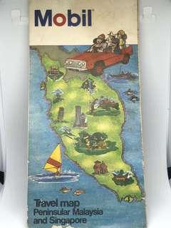 Vintage Mobil Map