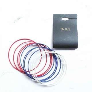 Forever 21 F21 Red Blue White the US-flag colors bracelet