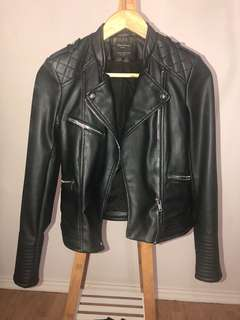 Zara black leather