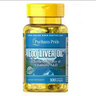 (Free normal mail) Puritans Cod Liver Oil