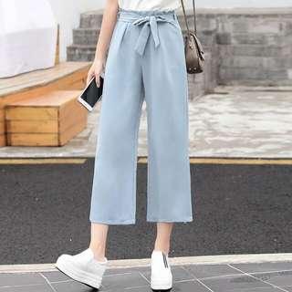 Light Blue Pants With Ribbon