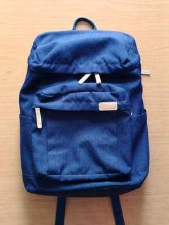 [韓國品牌] DISTRICT藍色帆布休閒背包