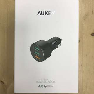 Aukey CC-T11 3-Port Car Charger Qualcomm Quick Charge 3.0