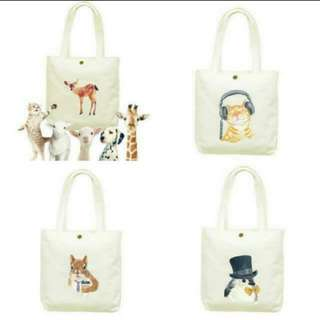 (Instock) Cute Animals canvas Tote Bag